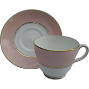 Wedgwood Old Hollywood Pink Teacup and Saucer