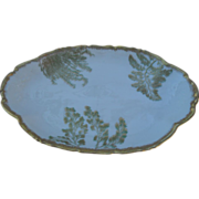 T&V Limoges France Gold Sea Fern Serving Plate