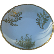 Gorgeous Gold T&V Limoges Sea Fern Serving Bowl