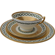 Minton's Tiffany's Gold Encrusted Teacup/Saucer/Trio