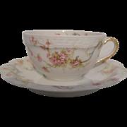 Haviland Limoges The Princess Small Teacup/Saucer