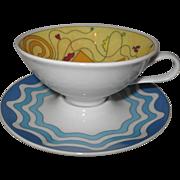 Modern Rosenthal O Sole Mio #1 Espresso Cup Saucer