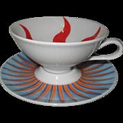 Modern Rosenthal O Sole Mio #4 Espresso Cup Saucer