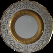 Gold Encrusted Limoges Art Nouveau Urns Dinner Plate