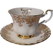 Royal Albert 50th Anniversary Gold Teacup and Saucer