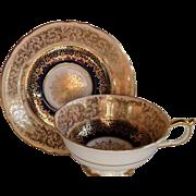 Elegant Paragon DW Cobalt Blue/Gold Teacup/Saucer