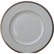 Classic Minton St James Pale Blue Ovals on Cobalt/Gold Salad Plate