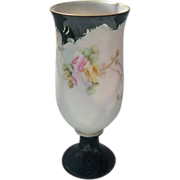 Sweet Little D & C. Limoges France Pink and Yellow Rose Bud Vase