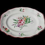 """Keller & Guerin Luneville France Old Strasbourg Ca 1880 Platter 14 1/4"""""""