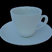 Modern Rosenthal Bjorn Wiinblad Romance White Oval/Dots Demitasse Cup/Saucer