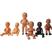 Vintage Group of Baby Dolls - German Etc.