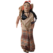 Vintage Cloth Doll in Her Regional Outfit.