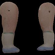Antique Pair of Bisque Doll Legs