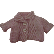 Pink Knitted Sweater For your Doll