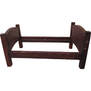 Antique Miniature Doll House Bed Frame