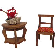 Vintage Miniature Doll House Furniture