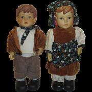 2 Vintage Bisque Dolls