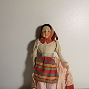 Antique Russian Peasant Woman Doll