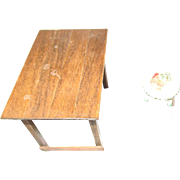 Vintage Miniature Doll House Table and Stool