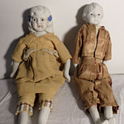 2 Nippon Dolls their original sawdust  body.