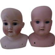 SOLD Two Armand Marseille Head for Dolls