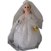 Vintage Effanbee Blonde Bride Doll Box # 3325