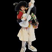 Vintage Felt Type Doll in Regional Outfit