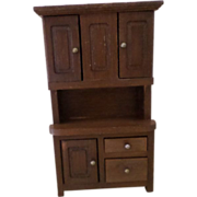 Miniature Doll House Wooden Hutch