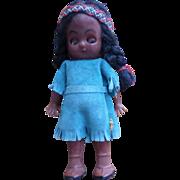 Vintage Hard Plastic Indian Doll