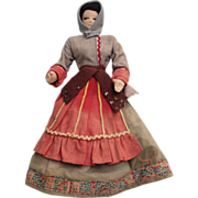 Vintage Cloth Doll in regional outfit.