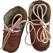 Vintage Leather Doll or Baby Shoes.