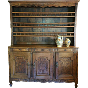 18th Century Carved French Vaisselier / Hutch