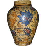 REDUCED Exuberant 19th c. Persian Qajar bird and flower vase