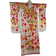 SALE Traditional Vintage Japanese Wedding  Uchikake Kimono