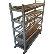 Rustic French Painted Bakers Rack - Wine storage or server