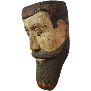 Antique Carved Santos Mask with Rich Patina