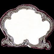 SALE Vanity Mirror Sterling Silver Antique Birmingham 1898