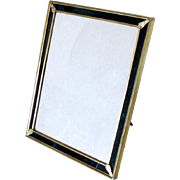 "Vintage Tabletop Brass Picture Frame with Gold Dore Finish Large 9"" x 11"""