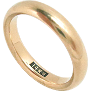 Wedding Eternity Band 14Kt Yellow Gold Size 6 4 mm W Vintage 5 g