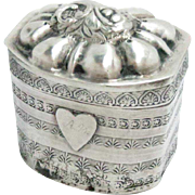 Antique Silver Snuff Scent Lodderein Pill Box Dutch