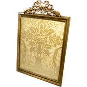SALE Picture frame bronze dore Gilt Ormolu Empire Style Antique French