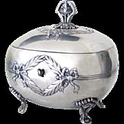 SALE Judaica Silver Antique Etrog Box Austrian Empire Revival 451g Judaica Silver Antique Etro