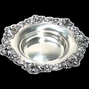 "SALE Sterling Silver Bowl Trinket Dish Gorham Repousse Antique 7"" 206 g"