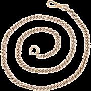 "Watch Chain Necklace Fine Vintage 14 Kt Rose Gold Necklace 20"" 10."