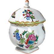 Herend Queen Victoria Porcelain Bon Bon Dish Box Sugar Bowl Vintage