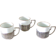Silver Art Deco Demitasse Set by Bruckmann & Son. Germany