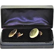 Vintage Tiffany & Co 14K Yellow Gold Cufflinks, with box.