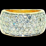 2.00 CT TW Diamond 5-Row Anniversary Diamond Wedding Band in 14k Yellow Gold