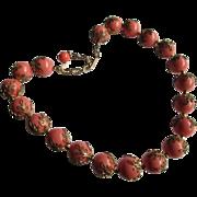 1950s Trifari Coral Colored Choker Necklace