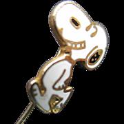 1958 SNOOPY Enamel/Gold tone Stickpin